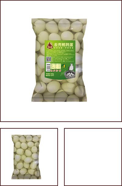 450克袋装去壳鹌鹑蛋